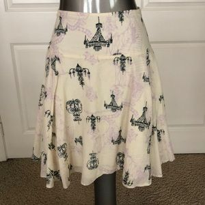 Necessary Objects 100% Cotton Palace Print Skirt